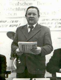 В.М. Ерилин на встрече с делегацией ГДР. Фото из архива Концерна «Тракторные заводы»