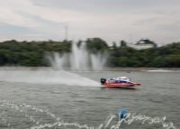 Эта лодка развила скорость почти 200 км/час.Фото Максима ВАСИЛЬЕВА