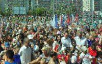 Церемония открытия нового спорткомплекса превратилась в настоящий праздник.Фото Олега МАЛЬЦЕВА