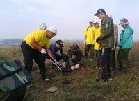 Перед началом раскопок землю проверяли металлоискателем.