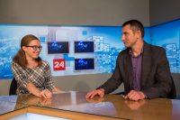 Екатерина Канюка и Андрей Никитин: чтобы люди могли смотреть новости каждый день. Фото Максима ВАСИЛЬЕВА