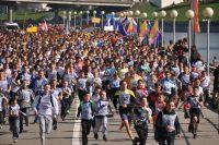 На Чебоксарском заливе проходят одни из самых массовых соревнований республики. Фото Олега МАЛЬЦЕВА из архива редакции