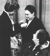 Председатели Комитета советских женщин: Валентина Терешкова, Валентина Гризодубова, Нина Попова.