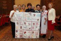 «Полотно Победы» чувашских женщин в Москве.
