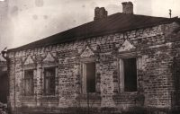 Боковой фасад старого дома, 1980 год.