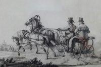 Свебах. Дрожки. Из издания Русский сувенир, Париж, 1831.