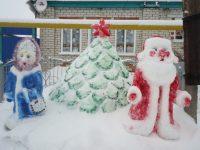 Благодаря новогоднему конкурсу Акчикасинское сельское поселение преображается в сказочный городок снежных фигур.