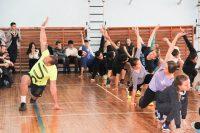 Разминка от Алексея Соловьева запомнилась студентам.Фото cap.ru