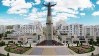 Монумент Матери проектировщики связали в единую структуру с будущим микрорайоном.