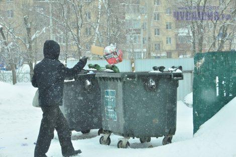 При старых ценах мусорные бачки опорожняли ежедневно. Посмотрим, как будет при новых... Фото Олега МАЛЬЦЕВА