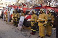 На выставке спасатели представили не только технику, но и средства индивидуальной защиты и экипировки.Фото cap.ru