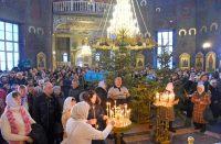 Праздничное богослужение в соборе транслировалось в прямом эфире.Фото cap.ru