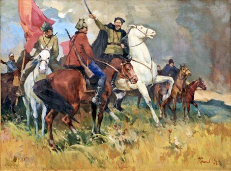 """""""Чапаев"""". Картина Виктора Пирогова. 1975 год."""