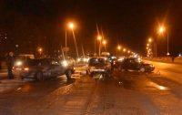 Вот к чему привела «неуступчивость» одного из водителей на перекрестке Канашского шоссе и улицы Р. Люксембург в Чебоксарах.Фото пресс-службы ГИБДД МВД по Чувашии