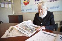 Элиза Федоровна – частый гость в редакции «Советской Чувашии».Фото Максима ВАСИЛЬЕВА