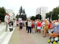 Митинг против оптимизации движения пассажирских пригородных поездов на территории Чувашии