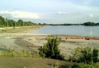 Засыпка песком пролива Крысиный хвост в районе Казани