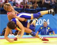 Надежда Федорова на Кубке мира по женской борьбе в Токио
