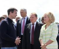 Представители рабочей группы по модернизации моногородов России во главе с руководителем Ириной Макиевой