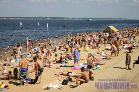 чебоксарский городской пляж чебоксары