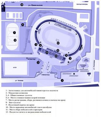 план схема стадиона олимпийский