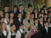 Чемпионка России по семиборью, участница Олимпийских игр в Лондоне Кристина Савицкая в новочебоксарской гимназии № 6