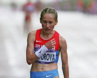 Альбина Майорова на Олимпиаде в Лондоне после забега. Фото с сайта london2012.rsport.ru
