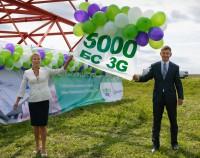"""Запуск юбилейной пятитысячной базовой станции третьего поколения (3G) компании """"Мегафон"""""""