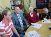 Александра Ивановна Семячкина в день своего 90-летнего юбилея
