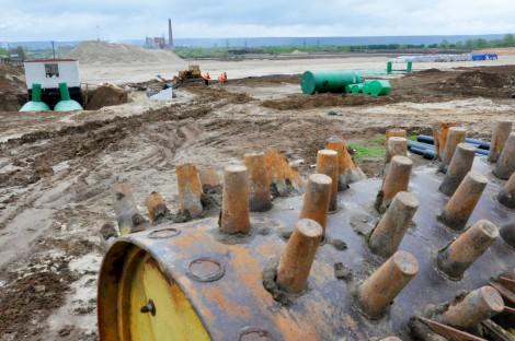 Строительство полигона ТБО (твердых бытовых отходов), г. Новочебоксарск. Фото О. Мальцева