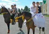 верхом на свадьбу