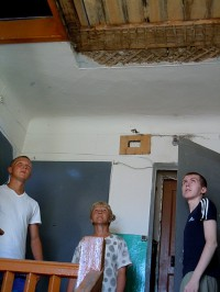Обрушение потолка в доме номер 79 по улице Гражданской.