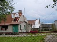 Разрушенный после урагана 17 июля дом в с. Октябрьское Марпосадского района. Фото Л. Васильева
