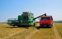 комбайн страда поле уборка урожая