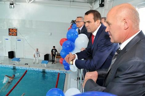 Торжественное открытие спорткомплекса «Хастар» (в переводе с чувашского «сильный, могучий») в Красных Четаях.