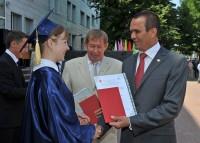 Вручение красных дипломов выпускникам ЧГУ - 2012