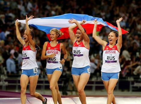 Золотой квартет россиянок (Е. Иванова – крайняя слева). Фото с сайта Международного паралимпийского комитета.