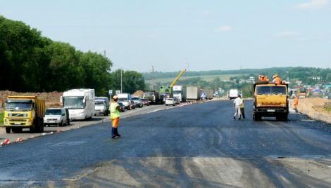 Реконструкция участка трассы М7 в Чебоксарском районе.