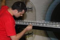 Аэродинимические испытания модели моста через Суру